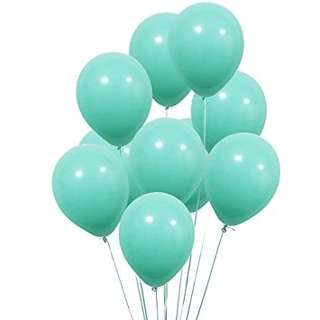 Turquoise Balloons (non-inflated)