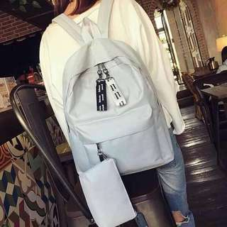 Korean Backpack w/ Pouch