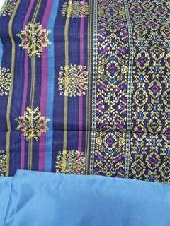 Meara Biru Lembut Batik Songket