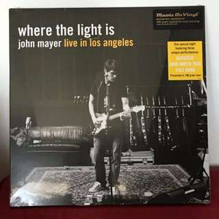 John Mayer Where The Light Is. Vinyl 4LP. New