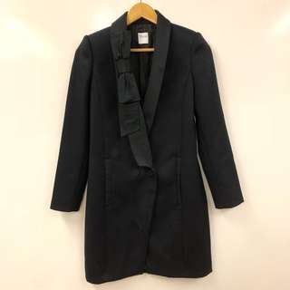 Red Valentino black with bow jacket coat size 38