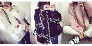 Korean women hooded pullover thicken sweatshirt