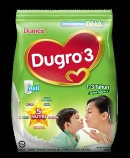 Buy 2 Free Postage Dumex Dugro Vanilla Asli 3 / 4/ 5 (900g)