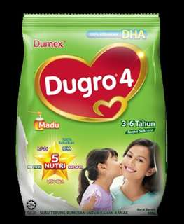 Buy 2 Free Postage Dumex Dugro Honey Madu 3 / 4/ 5 (900g)