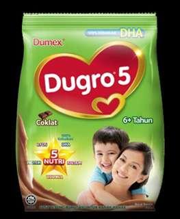 Buy 2 free Postage Dumex Dugro Chocolate  Coklat 3 / 4/ 5 (900g)