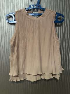 Champagne Pleated Top