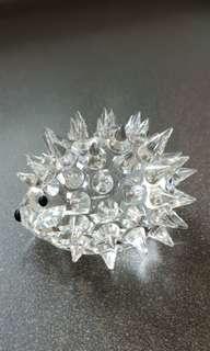 17 Swarovski Silver Crystal - Large Hedgehog