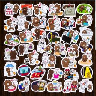 40pcs stitch Sticker - line bear 2
