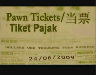 Buying all pawn tickets and luxury watches