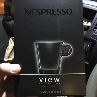 BNIB Nespresso view collection espresso glass cup