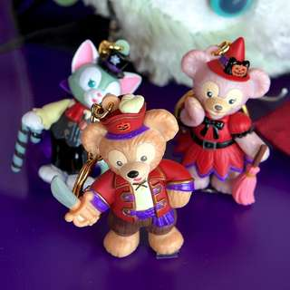 LAST SET Japan Tokyo Disneyland Disneysea Disney Resort Land Sea Halloween 2016 Duffy and Friend Keychain