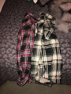 Flannel Long Sleeve Tops