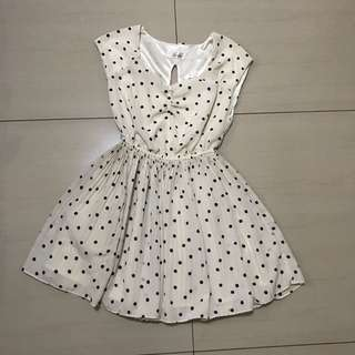 Cream Polkadots Dress