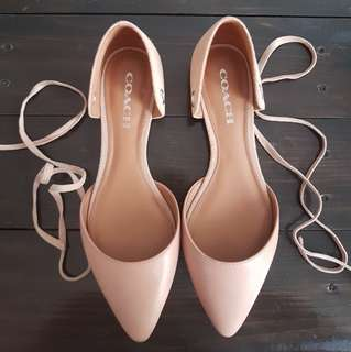 EUC Coach Lace-up Flats - Used Once - size US 8.5