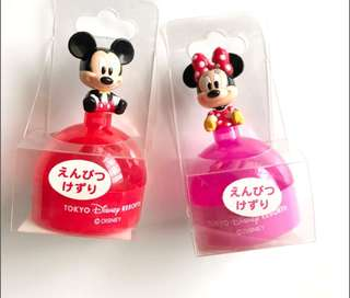 Mickey and Minnie Mouse Sharpeners