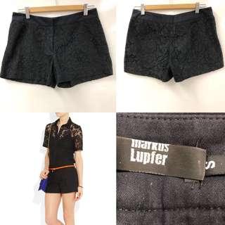 Markus Lupfer black lace shorts size S
