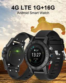 i7 Android Smart Watch - 4G, 1.39 InchTouch Screen, Pedometer, Heartrate Sensor, Android 7.0, 2MP Camera (Black) (CVAHI-W102)