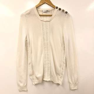 Pierre Balmain white knit sweater size 32/46