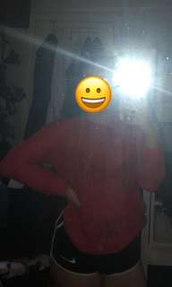 Thin Red knitted jumper