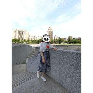 🚚 氣質藍色格紋長裙✨