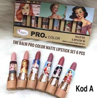 🚚 🌈INS The Balm Pro Color Matte Lipstick Set 6pcs