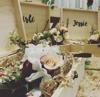 Bridesmaid Box / Wristlet Corsage $20-$60