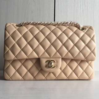 Chanel cf2.55 Lambskin Gold Tone Metal Classic Flap Bag (Just look at the price without looking at quality.Please bypass,Tq)
