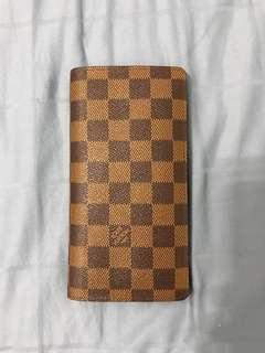 Louis Vuitton Damier Ebene Brazza wallet long wallet