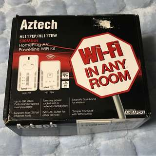 Aztech HL117EP/HL117EW Powerline WiFi Kit