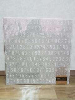 American Crafts Scrapbooking Paper (Number Digits)