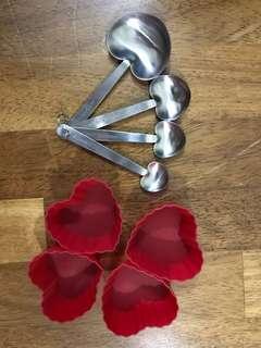 Heart shaped baking tools