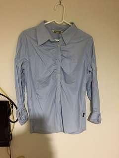 🚚 藍色長袖襯衫