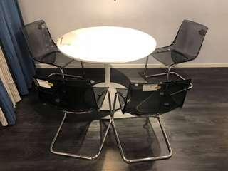 IKEA Tobias Gshost Chair BLACK