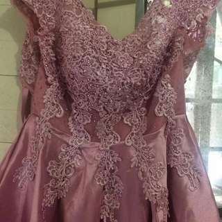 OLD ROSE GOWN For medium to PLUS SIZE