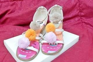 Trolls Pompom Ankle Heels