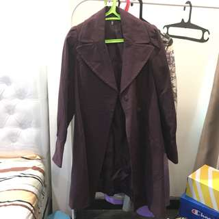*new* purple coat / long coat