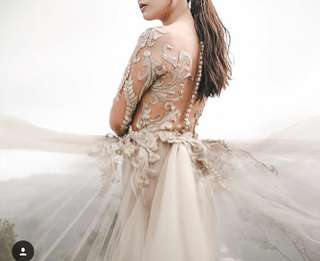 Beige transparent gown