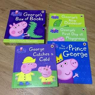 Peppa pig George book set - 4 hardcover