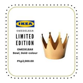 PREORDER IKEA OMEDELBAR GOLD BOWL