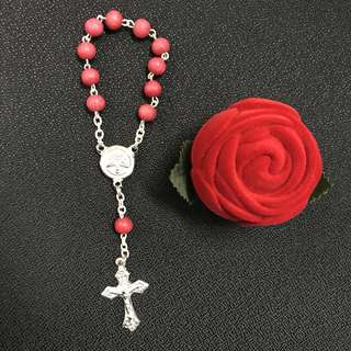 Rose Rosary bought from Fatima church, Portugal