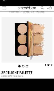 Rtp usd$35 smashbox spotlight highlighter palette in gold