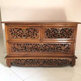 Indonesian Antique Wooden Cabinet