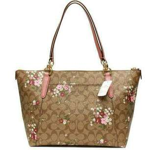 AUTHENTIC COACH F30247 TOTE BAG WITH MINI FLORAL SIGNATURE
