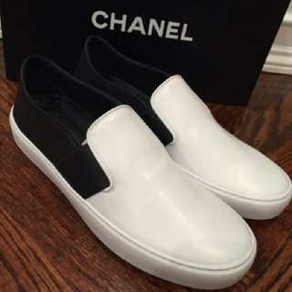 Chanel Calf Leather Slip On Mules (I G31714) Size 36