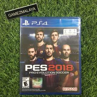 [NEW] PS4 PES 2018 - (GAMEZMALAYA)