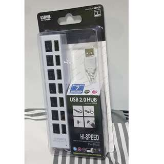 7-PORT USB 2.0 HUB (WHITE)