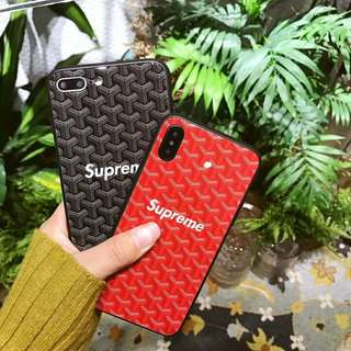 Supreme x Goyard iPhone 7/8/X Case