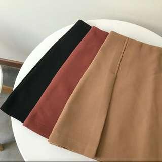 🚚 韓式磚紅短裙