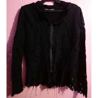 Black peplum blazer