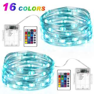 LED String Fairy Light Strip Lamp Waterproof with Remote Control